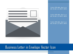 Business Letter In Envelope Vector Icon Ppt PowerPoint Presentation File Templates PDF