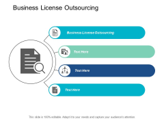 Business License Outsourcing Ppt PowerPoint Presentation Summary Slide Cpb