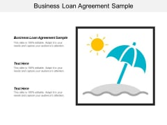 Business Loan Agreement Sample Ppt PowerPoint Presentation Slides Influencers Cpb