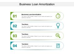 Business Loan Amortization Ppt PowerPoint Presentation Slides Portfolio Cpb