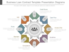 Business Loan Contract Template Presentation Diagrams