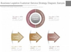 Business Logistics Customer Service Strategy Diagram Sample