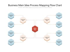 Business Main Idea Process Mapping Flow Chart Ppt PowerPoint Presentation File Gridlines PDF