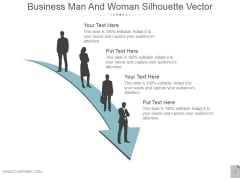 Business Man And Woman Silhouette Vector Ppt PowerPoint Presentation Background Images