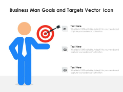 Business Man Goals And Targets Vector Icon Ppt PowerPoint Presentation Infographics Portrait PDF