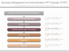 Business Management And Administration Ppt Example Of Ppt