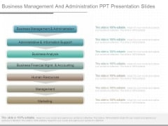 Business Management And Administration Ppt Presentation Slides
