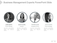 Business Management Experts Ppt PowerPoint Presentation Templates