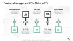Business Management Kpis Metrics Net Profit Ppt Show Structure PDF