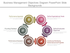 Business Management Objectives Diagram Powerpoint Slide Backgrounds