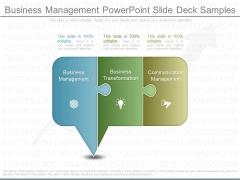 Business Management Powerpoint Slide Deck Samples