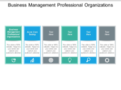 Business Management Professional Organizations Ppt PowerPoint Presentation Pictures Cpb