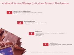 Business Management Research Additional Service Offerings For Business Research Plan Proposal Clipart PDF