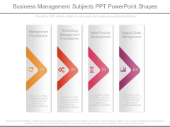 Business Management Subjects Ppt Powerpoint Shapes