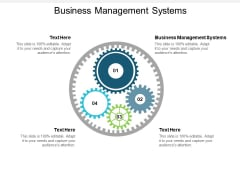 Business Management Systems Ppt PowerPoint Presentation Infographics Deck Cpb