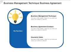 Business Management Technique Business Agreement Contract Insurance Sales Ppt PowerPoint Presentation Inspiration Introduction
