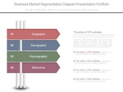 Business Market Segmentation Diagram Presentation Portfolio