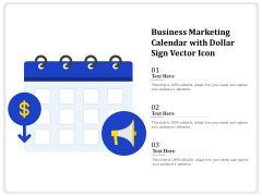 Business Marketing Calendar With Dollar Sign Vector Icon Ppt PowerPoint Presentation Gallery Clipart Images PDF