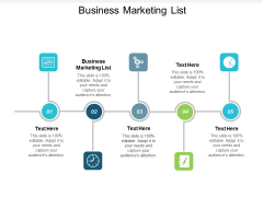 Business Marketing List Ppt Powerpoint Presentation Ideas Show Cpb