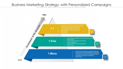 Business Marketing Strategy With Personalized Campaigns Ppt Model Diagrams PDF