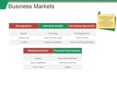 Business Markets Ppt PowerPoint Presentation Outline Topics