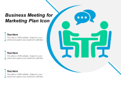 Business Meeting For Marketing Plan Icon Ppt PowerPoint Presentation Ideas Clipart Images