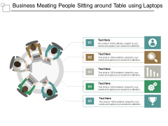 Business Meeting People Sitting Around Table Using Laptops Ppt PowerPoint Presentation Icon Design Inspiration