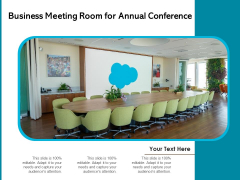 Business Meeting Room For Annual Conferenece Ppt PowerPoint Presentation Show Topics PDF
