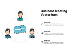 Business Meeting Vector Icon Ppt PowerPoint Presentation File Slide Download
