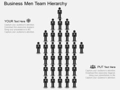 Business Men Team Hierarchy Powerpoint Template