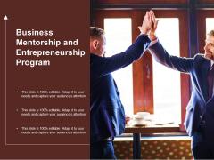 Business Mentorship And Entrepreneurship Program Ppt PowerPoint Presentation Outline