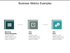 Business Metrics Examples Ppt PowerPoint Presentation Icon Clipart Images Cpb