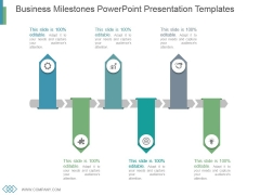 Business Milestones Powerpoint Presentation Templates