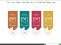 Business Model And Planning Powerpoint Templates