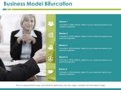 Business Model Bifurcation Template 3 Ppt PowerPoint Presentation Infographics Show