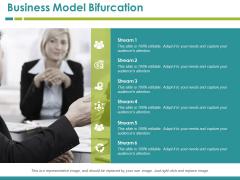 Business Model Bifurcation Template 4 Ppt PowerPoint Presentation Inspiration Visual Aids