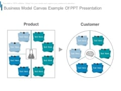 Business Model Canvas Example Of Ppt Presentation