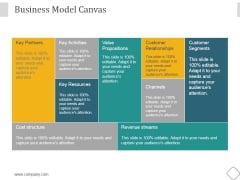 Business Model Canvas Ppt PowerPoint Presentation Show