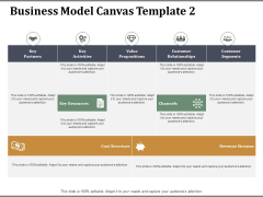 Business Model Canvas Template 2 Ppt PowerPoint Presentation Infographic Template Visuals