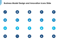 Business Model Design And Innovation Icons Slide Ppt PowerPoint Presentation Infographic Template Example File
