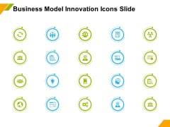 Business Model Innovation Icons Slide Ppt Model Clipart PDF