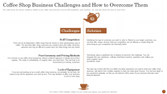 Business Model Opening Restaurant Coffee Shop Business Challenges And How To Overcome Them Portrait PDF