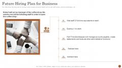 Business Model Opening Restaurant Future Hiring Plan For Business Portrait PDF