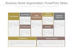 Business Model Segmentation Powerpoint Slides