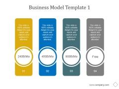 Business Model Template 1 Ppt PowerPoint Presentation Design Templates