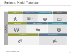 Business Model Template 3 Ppt PowerPoint Presentation Files