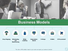 Business Models Drop Shipping Ppt PowerPoint Presentation File Portrait