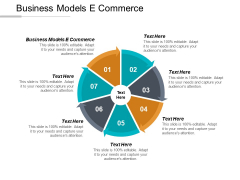Business Models E Commerce Ppt PowerPoint Presentation Icon Guidelines Cpb