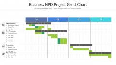 Business NPD Project Gantt Chart Background PDF