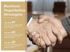 Business Negotiation Strategies Ppt Powerpoint Presentation Portfolio Background